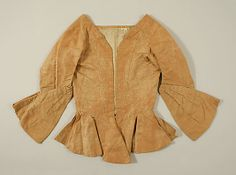 Bodice  Date: ca. 1775 Culture: British Medium: silk Dimensions: Length: 19 x 36 in. (48.3 x 91.4 cm) Credit Line: Gift of Mrs. F.D. Millet, 1913 Accession Number: 13.49.3