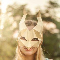 Golden queen Mask. Queen paper mask. half mask. Golden masks, low poly mask…