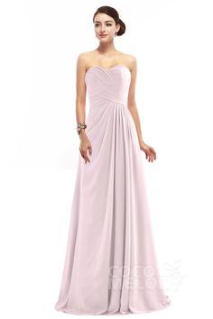 Delicate Sheath-Column Sweetheart Floor Length Chiffon Sleeveless Zipper Bridesmaid  Dress with Pleating COZF1401D. Wedding Dress ChiffonWedding Party ... 50e790669eb0