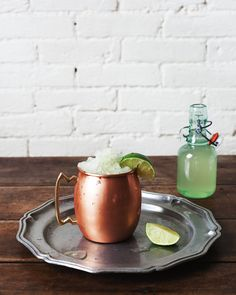 """Closely comparable to a slushy for adults, this Moscow Mule Granita is the solution to that """"what cocktail should I be drinking on this day"""" question. Homemade granita is time consuming, sure. But totally worth it? Frozen Moscow Mule Recipe, Granita, Lemon Drink, Food Photography Styling, Food Styling, Punch Bowls, Craft Cocktails, Slushies, Frozen Treats"""