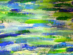 Monet Waterlilies by paintedpaper, background