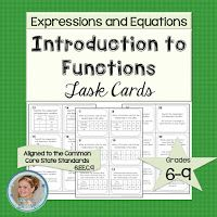 Intro to Functions Task Cards. Algebra Activities, Maths Algebra, Teaching Math, Sixth Grade Math, Eighth Grade, Math Lesson Plans, Math Lessons, Math Olympiad, Math Task Cards