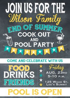 end of summer party invitation pool party splash by. Black Bedroom Furniture Sets. Home Design Ideas