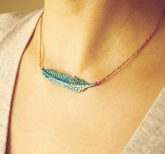 Paper Feather Necklace - Craftfoxes
