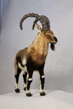 Kiyoshi Mino // Needle Felted Animals -Nubian Ibex