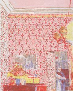 Edouard Vuillard - Interieur mit rosa Tapete Más