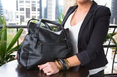 Amber Hill - Spring - Tote Handbag - Black - Limited Edition A very practical every day handbag.