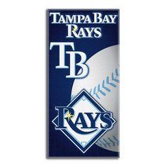 Tampa Bay Rays MLB Fiber Reactive Beach Towel (Emblem Series) (28in x 58in)