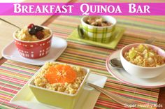 Breakfast Bar-Quinoa Style | Healthy Ideas for Kids