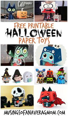 Halloween Paper Crafts - Real Time - Diet, Exercise, Fitness, Finance You for Healthy articles ideas Fall Paper Crafts, Halloween Paper Crafts, Halloween Activities, Diy Halloween Decorations, Holiday Crafts, Diy Halloween Toys, Diy Crafts, Halloween Templates, Hallowen Ideas