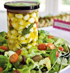 Hedelmäinen salaatti Mozzarella, Cantaloupe, Buffet, Salads, Fruit, Vegetables, Recipes, Food, Vegetable Recipes