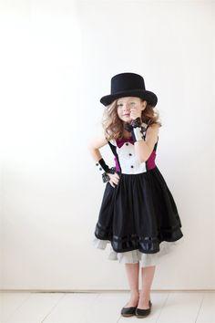 Mad Hater?? Custom Girls Tuxedo Dress... The AUDREY in sizes 2T through 12. $80.00, via Etsy.