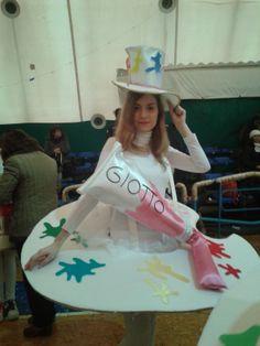 soraya's laboratory costumi carnevale tavolozza da pittore realizzati a mano (diy painter's palette costume)