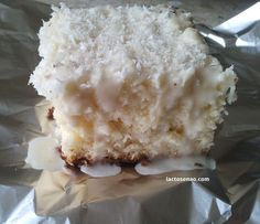Lactose free coconut iced cake :)
