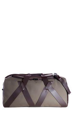 Troubadour Canvas & Leather Duffel Bag