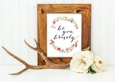 "MOPS ""Be You Bravely"" wall decor, nursery wall decor, inspirational wall art for moms, women, childr"