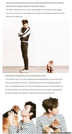 This is exactly how i feel about puppies & bunnies <3 so much love for the furry critters! #Eunhyuk #choco #SuperJunior