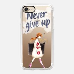 Never Give Up by MAELLE RAJOELISOLO  - Classic Grip Case
