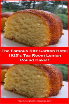 The Famous Ritz Carlton Hotel Tea Room Lemon Pound Cake! - Daily World Cuisine Recipes Whats Gaby Cooking, Pancake Cake, Daily Meals, What To Cook, Quick Recipes, Pound Cake, No Bake Cake, Soul Food, Amazing Cakes
