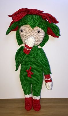 Christmas Star Kris doll made by Tanja D. - crochet pattern by Zabbez