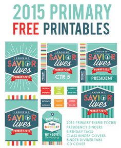 2015 Primary Printables - These are beautiful! My primary is going to LOVE them!