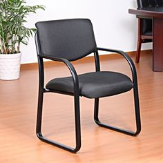 Aragon Black Fabric Guest Chair | Overstock.com Shopping - The Best Prices on Aragon Visitor Chairs