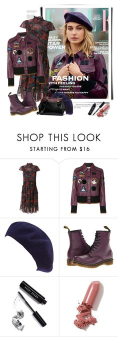 """""""Coach Fall 2017 - ELLE"""" by sella103 ❤ liked on Polyvore featuring Baldwin, Coach, San Diego Hat Co., Dr. Martens, Bobbi Brown Cosmetics, LAQA & Co., coach and ELLE"""