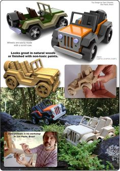 Osni's Sao Paulo Jeep Wrangler Wood Toy Plan Set