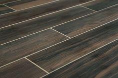"""Salerno Porcelain Tile - Wilderness Series - Black / 6""""x36"""""""