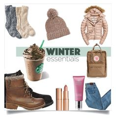 """""""Winter essentials"""" by lucifuk on Polyvore featuring J.Crew, Fuji, Timberland, Molton Brown, Charlotte Tilbury, L.L.Bean, Fjällräven and Steve Madden"""