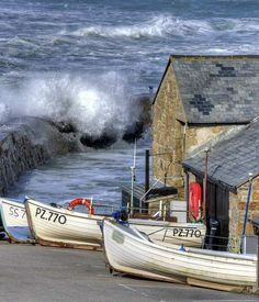 Harbour at Sennen Cove, Cornwall, England, UK Almost doesn't look real. Devon And Cornwall, England And Scotland, English Countryside, British Isles, Belle Photo, Great Britain, Seaside, United Kingdom, Beautiful Places