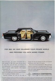 1963 Lincoln Continental / Ad