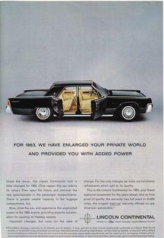 1963 Lincoln Continental / Ad