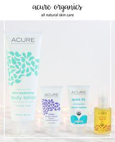 ACURE Organics all natural skin care