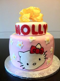 Hello Kitty birthday cake. #cake #birthday #birthdaycakes #kidcakes #girlycakes #hellokitty #hellokittycakes