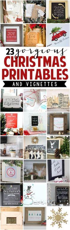 Free Printable Vintage Christmas Advent Calendar