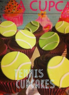 Tennis themed cupcakes made by me, Jax