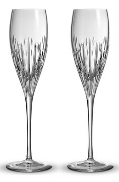 Monique Lhuillier Waterford 'Stardust' Lead Crystal Champagne Flutes (Set of 2) available at #Nordstrom