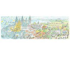 """Puzzle """"Santiago de Compostela"""". #formiche #puzzle #santiago #cammino #religione #art #compostela"""