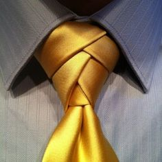 Eldredge Necktie Knot (how to linked herein)... a good knot for showing off some style... but preferred only for solid-satin ties...