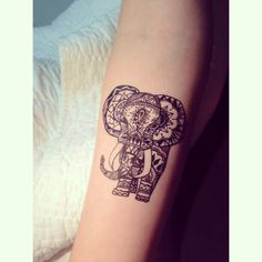 simple baby elephant tattoo - Google Search