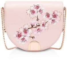 Ted Baker Susy Soft Blossom Leather Moon Bag My Style Ted Baker Handbag, Ted Baker Bag, Michael Kors Designer, Designer Bags, Designer Handbags, Ted Baker London Bags, Ted Baker Shoes, Cute Luggage, Ted Baker Accessories