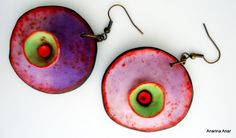 Polymer clay earrings van AnarinaAnar op Etsy