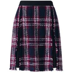 Lands' End Women's Petite Fringe Trim Skirt ($89) ❤ liked on Polyvore featuring skirts, red, petite skirts, holiday skirts, plaid skirt, fringe skirts and red a line skirt
