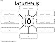 """Let's Make 10"" free printables"