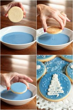 Easy Decorated Christmas Shortbread Cookies - Weihnachtsbäckerei,Easy Decorated Christmas Shortbread Cookies Don't fancy yourself as a fancy cookie maker? Check out these Easy Decorated Christmas Cookies, they're on. Cookie Desserts, Holiday Desserts, Holiday Baking, Holiday Treats, Holiday Recipes, Fall Recipes, Snacks Recipes, Recipes For Christmas Cookies, Best Holiday Cookies