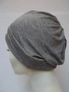 Hat Summer Slouch Gray Bamboo Jersey Light Chemo Cap by NinisNiche, $40.00
