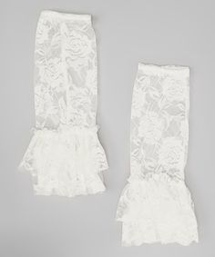 Look at this Baby & Me Designs White Boot Cuff Leg Warmers on #zulily today!