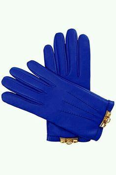 Guantes azules