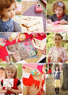 Activities for the kids at the Japanese Tea Party. From karaspartyideas.